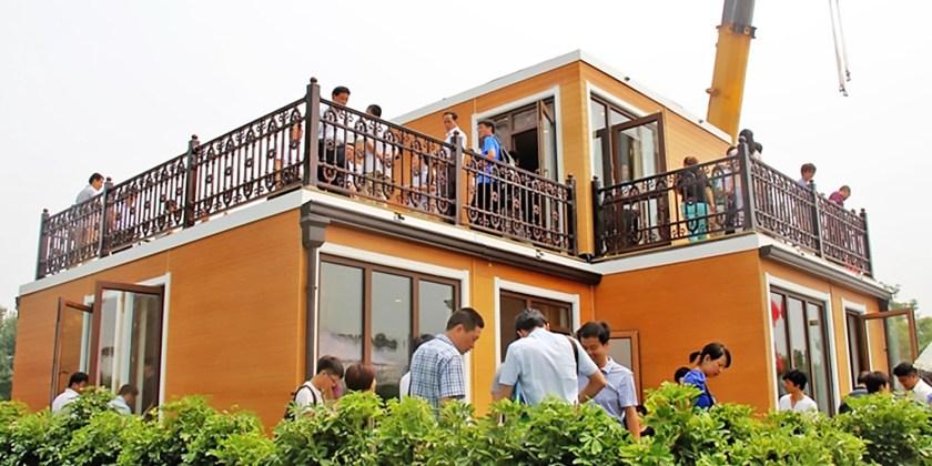 3 Boyutlu Yazıcıyla 3 Saatte Villa Yapıldı